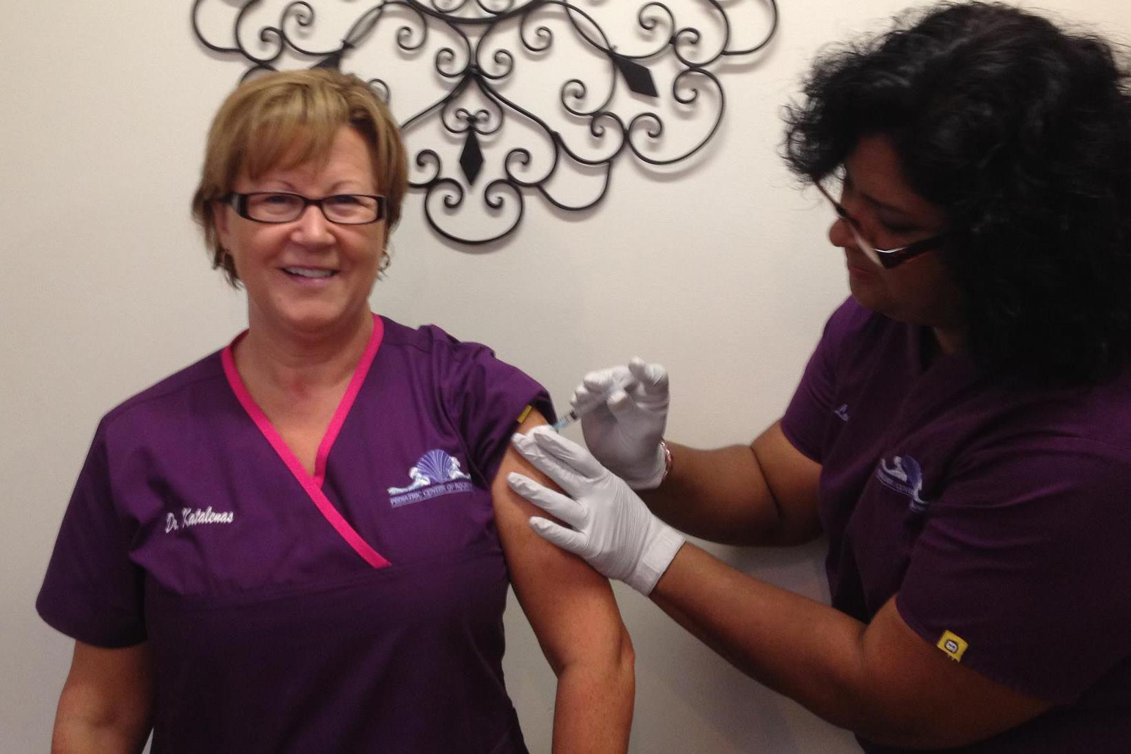 Dr. K Gets Her Flu Shot!